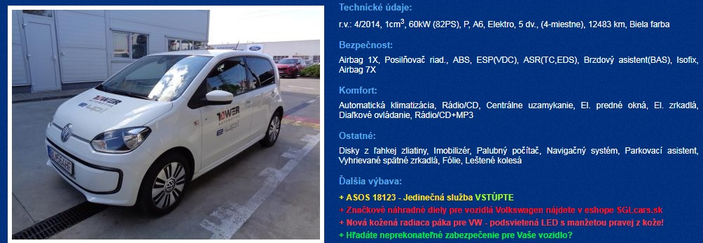 bazar elektromobily vw e-up