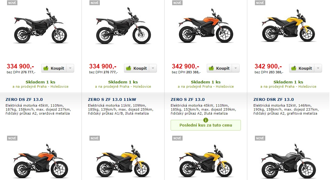zero motorcycles alza