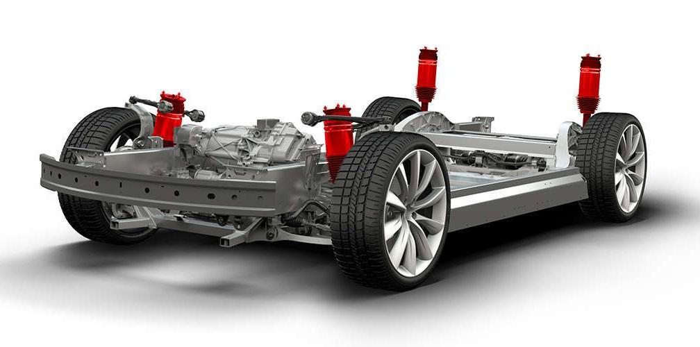 tesla model 3 smart air suspension