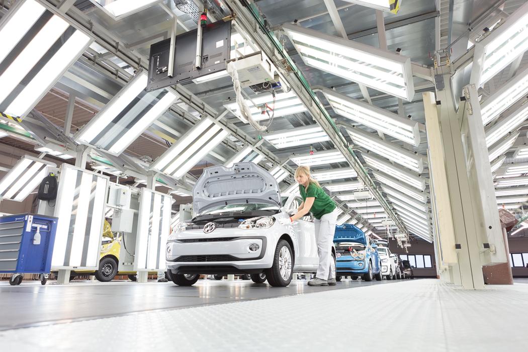volkswagen e-up vyroba