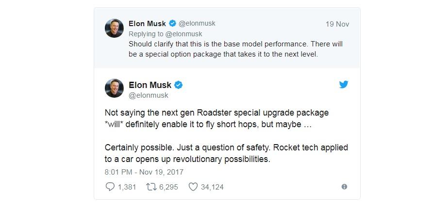 tesla roadster raketove technologie