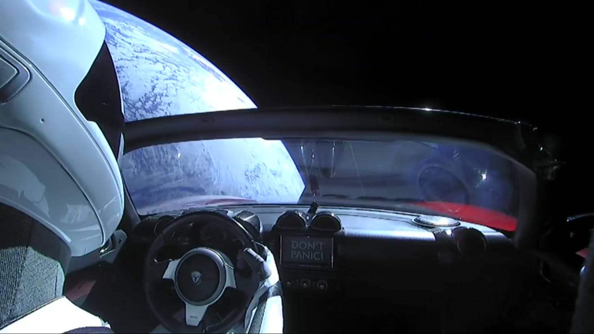 Starman na Tesle Roadster