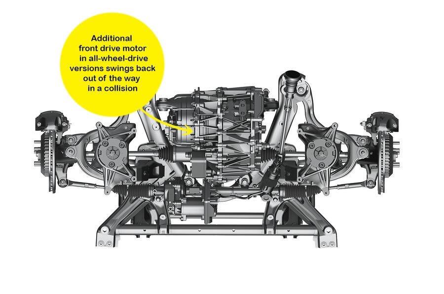 Elektromotor prednej nápravy Modelu 3