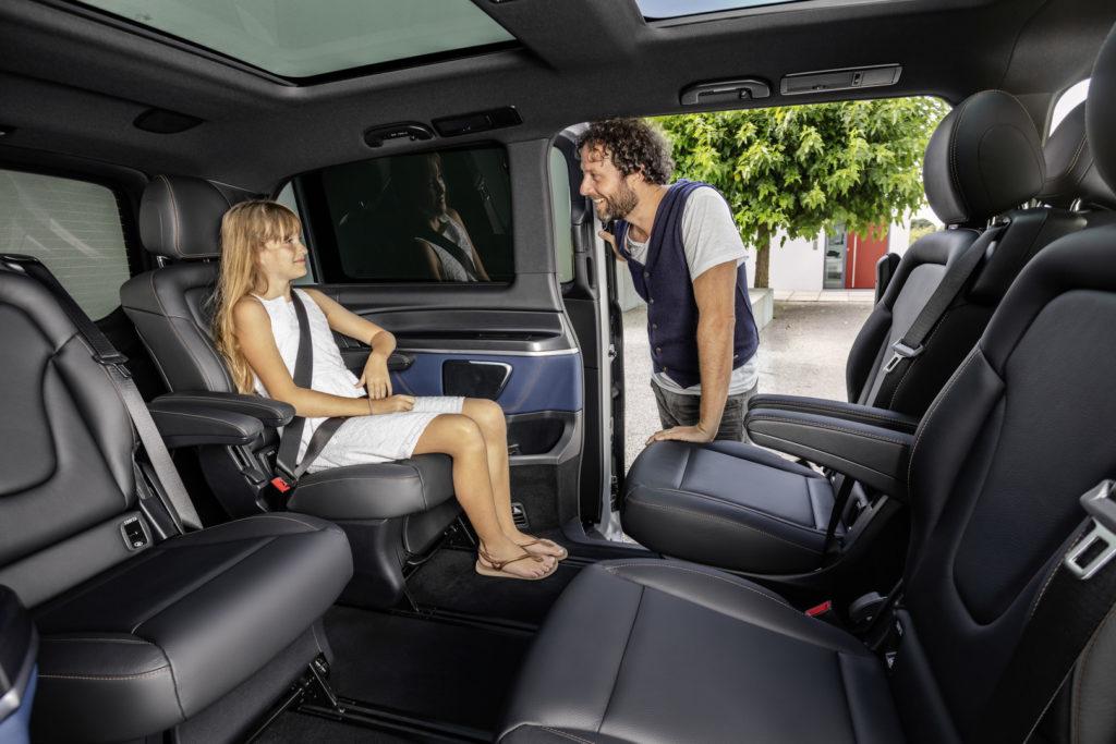 Mercedes Benz EQV zadne sedadla