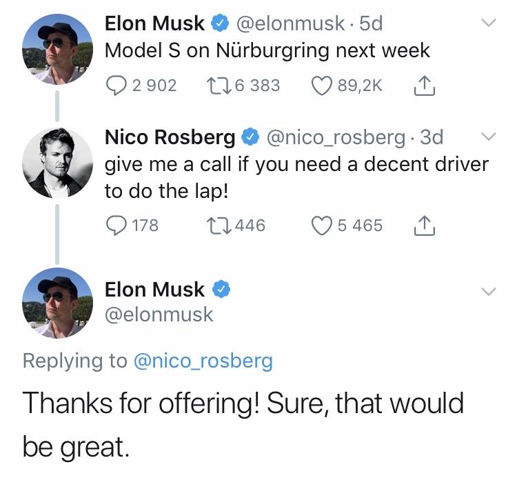 Elon Musk & Nico Rosberg
