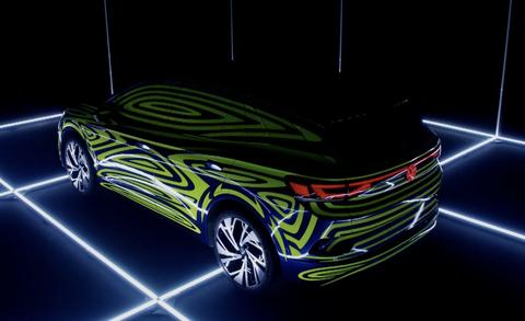 Volskwagen ID4 brzdové svetla