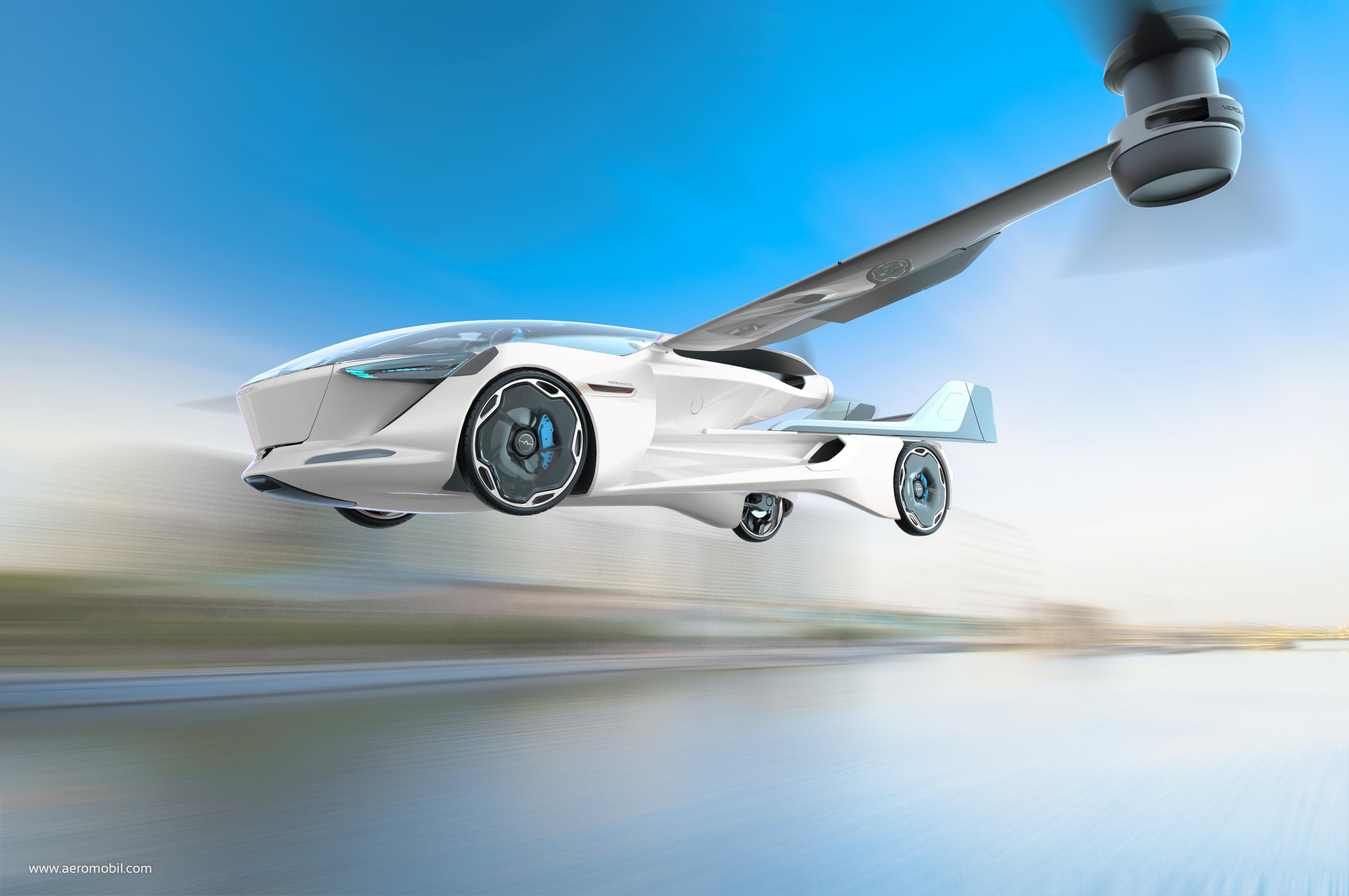 AeroMobil 5.0 VTOL s vertikálnym vzletom a pristávaním
