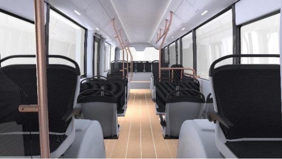 interiér - elektrický autobus Ebusco 3.0