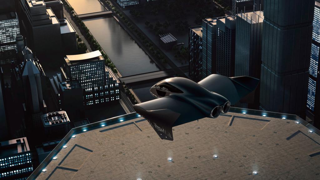elektrický vertikálny vzlet a pristátie Porsche a Boeing