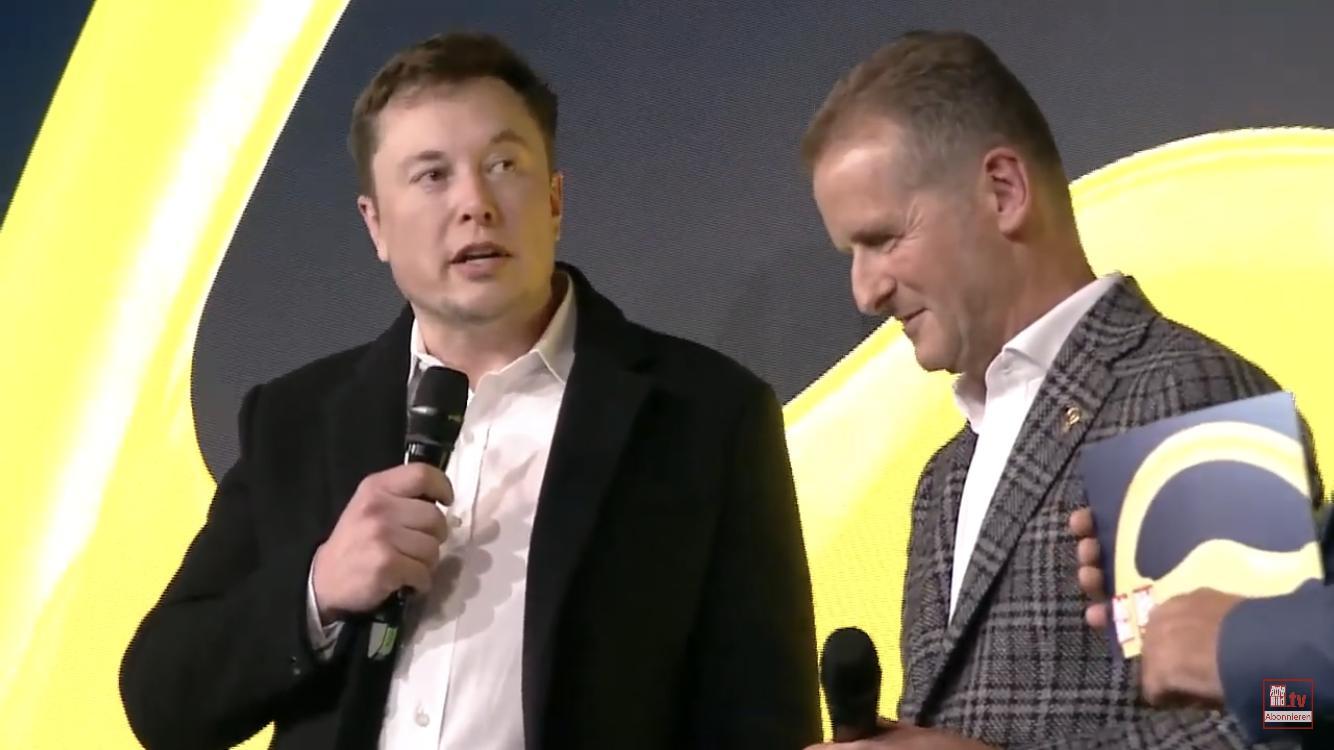 Elon Musk a Herbert Diess