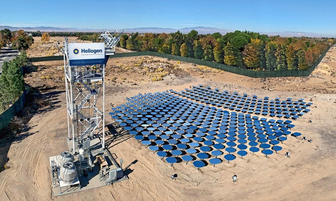 solárno - vodíková elektráreň Heliogen