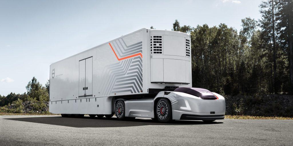 Volvo autonómny elektrický nákladiak