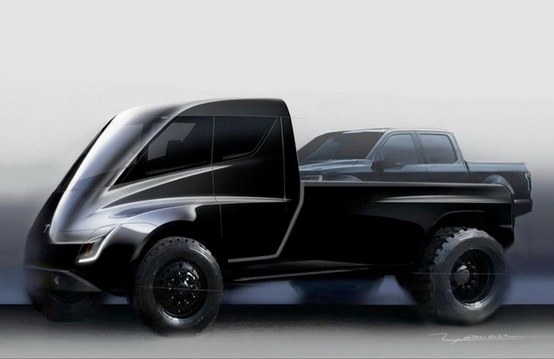 Oficiálna skica Tesla pickupu