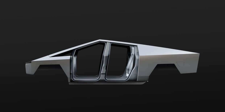 Jednoliaty exoskelet Tesla Cybertruck (Zdroj: Tesla)