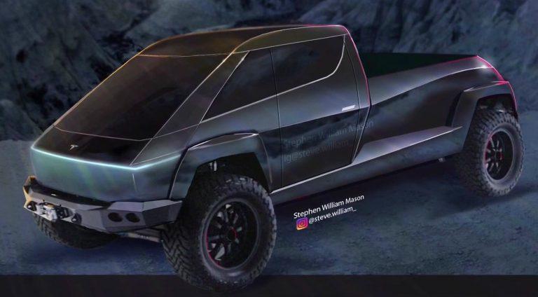 Tesla pickup neoficiálny render