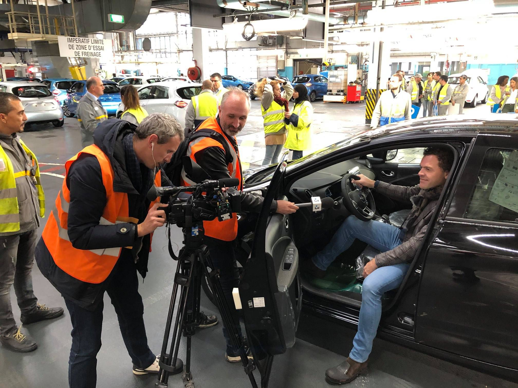 Renault zoe výrobná hala