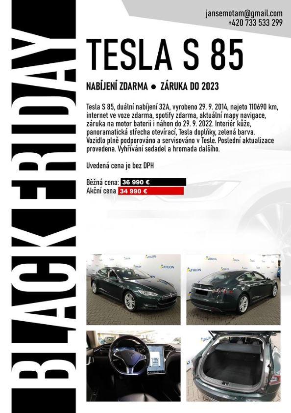Black Friday zľava na Teslu Model S
