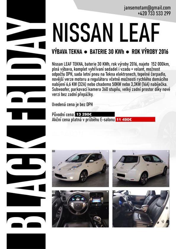 Black Friday zľava na Nissan Leaf