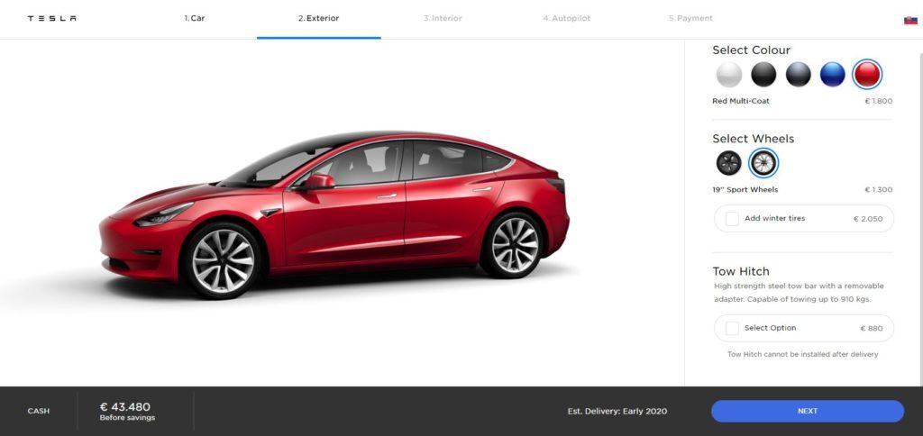 Tesla konfigurator