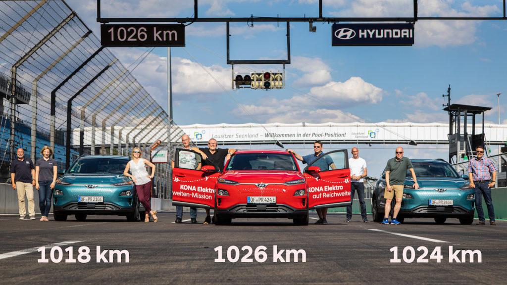 hyundai kona electric rekord dojazd