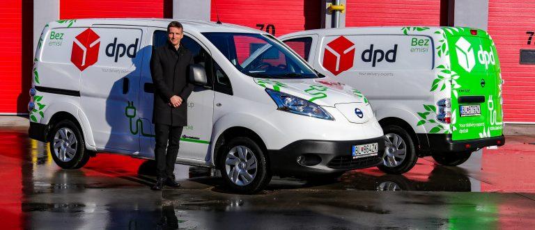 Elektrické dodávky DPD v Bratislave