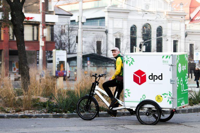 Elektrický cargo bicykel v Bratislave (Foto: DPD)