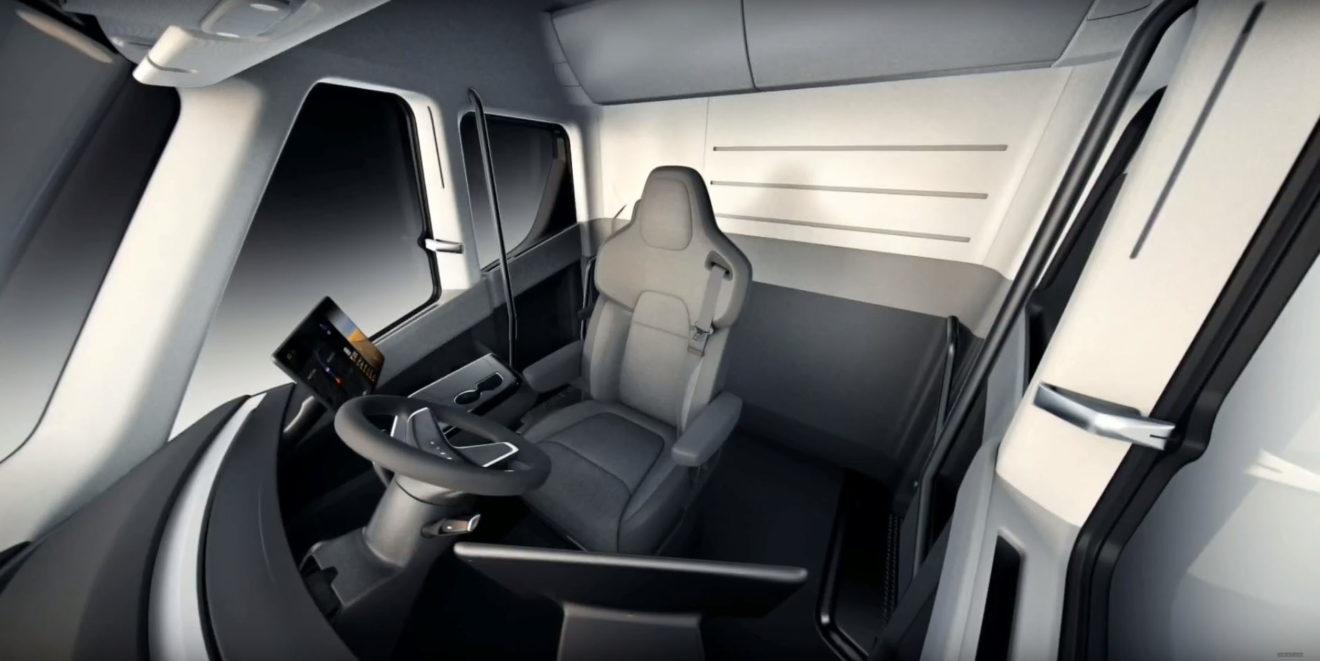 Tesla Semi interiér