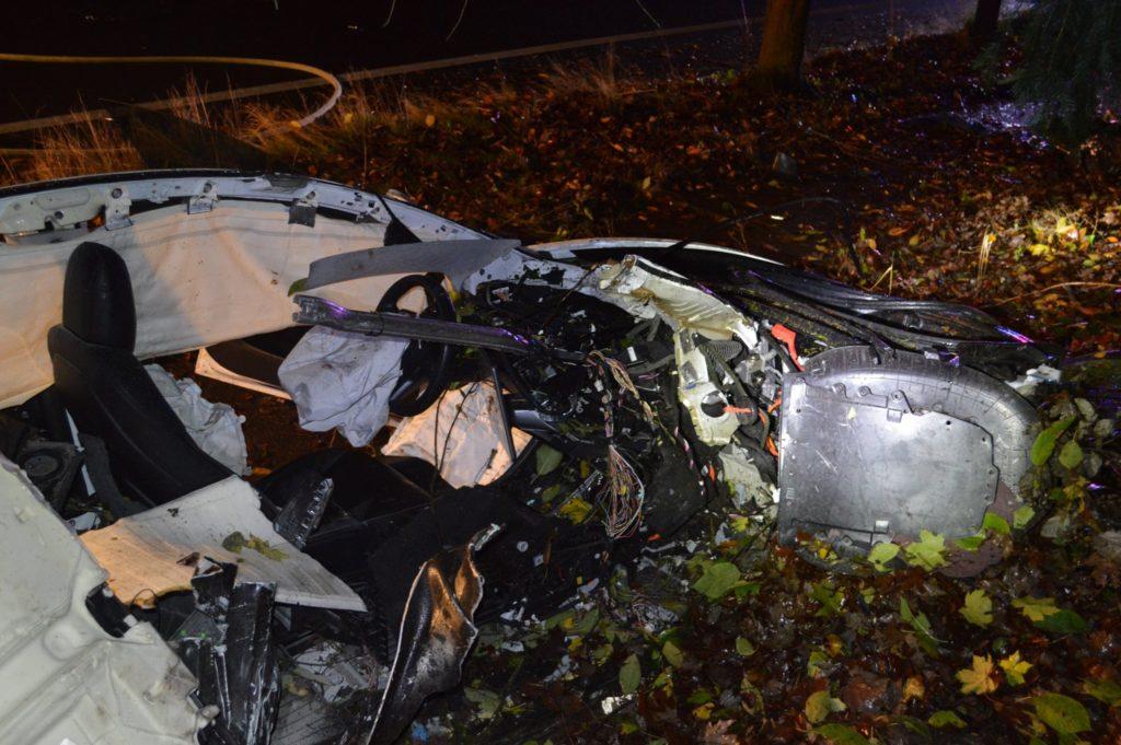 Nehoda Tesly Model 3