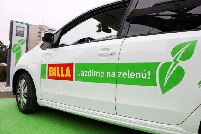 Nabíjacia stanica pre elektromobily Billa