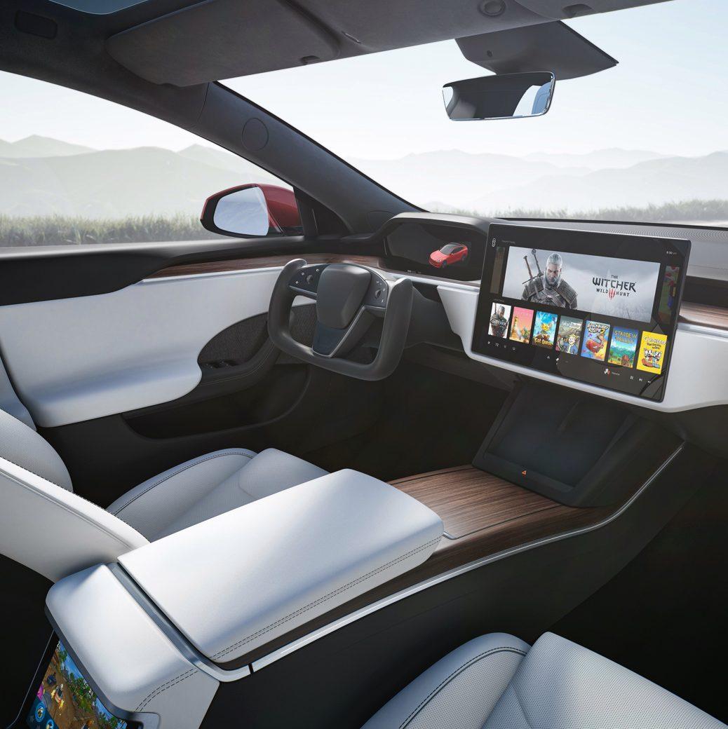 Faceliftovaná Tesla Model S - interiér (Foto: Tesla)