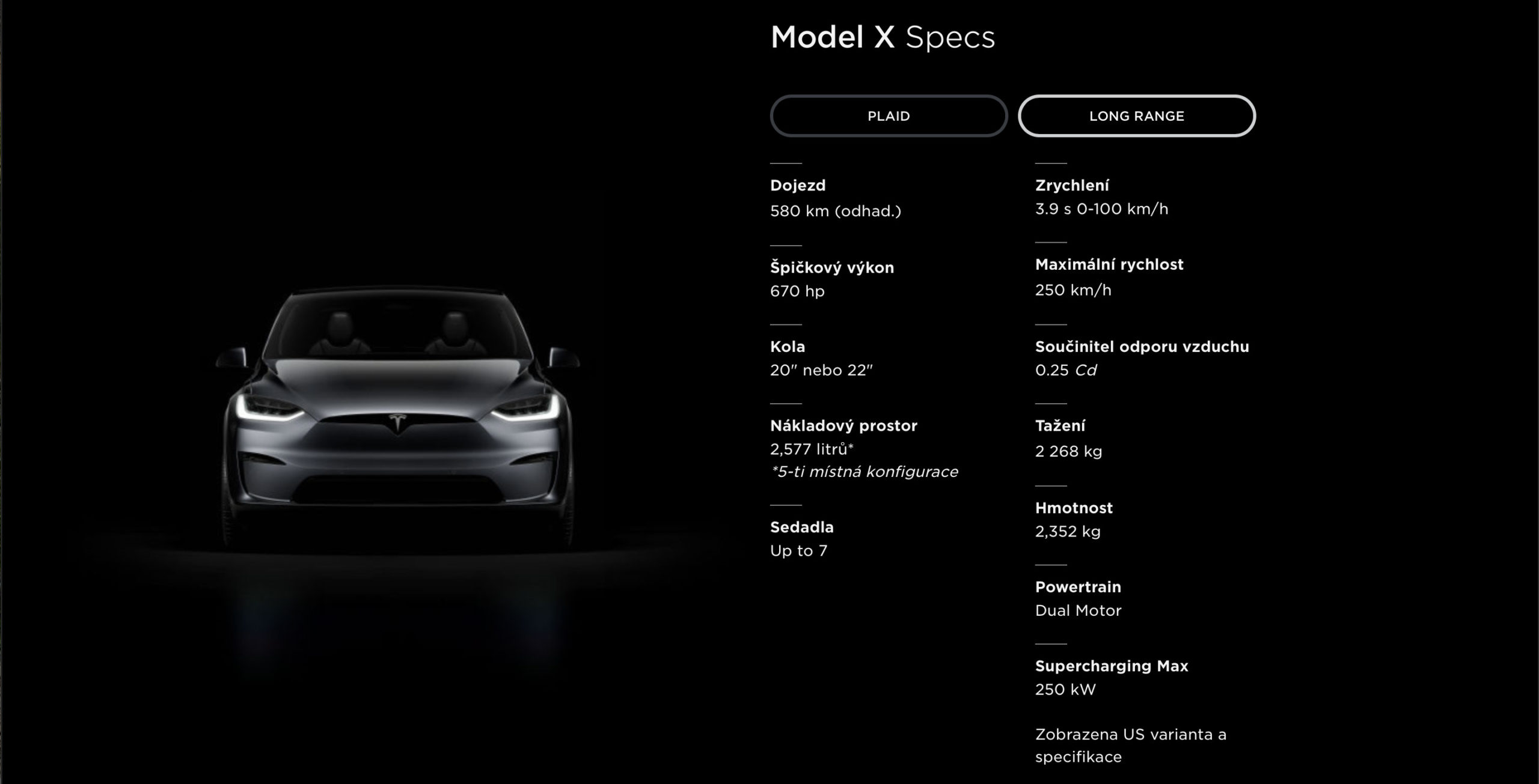 Faceliftovaná Tesla Model X - technické parametre (Foto: Tesla)