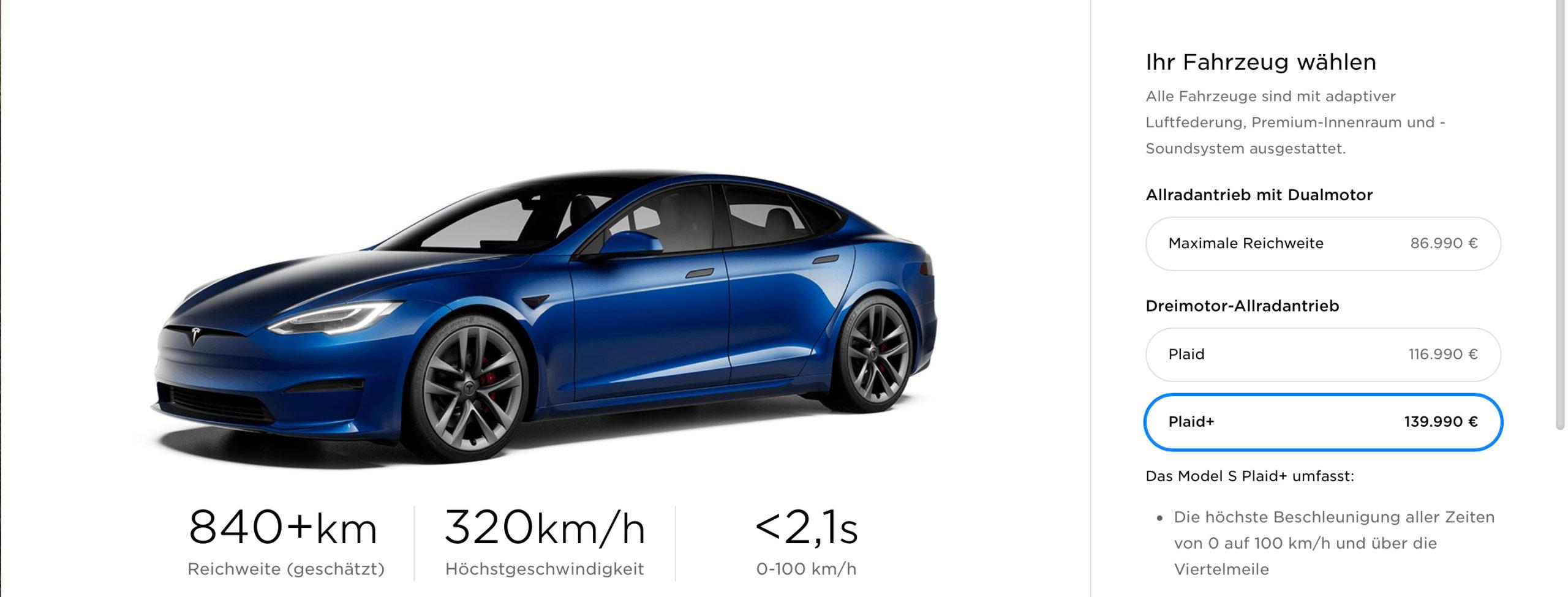 Faceliftovaná Tesla Model S Plaid+ (Foto: Tesla)