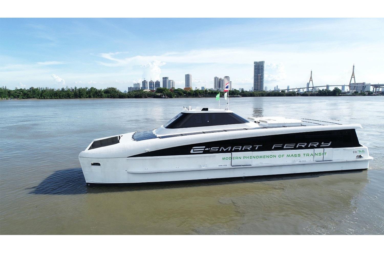Elektrický trajekt MINE Smart Ferry (Foto: Bangkok Post)