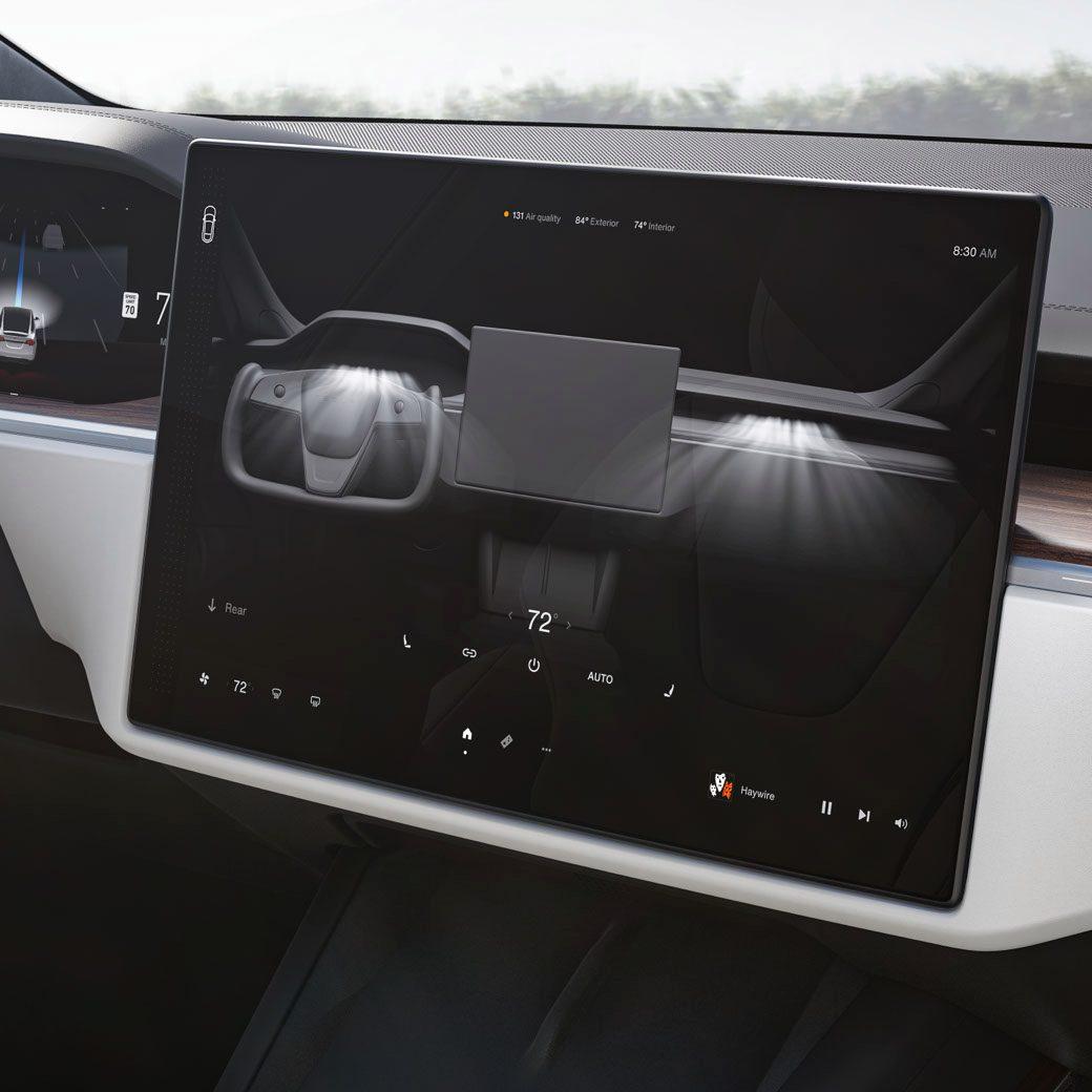 Faceliftovaná Tesla Model X - interiér (Foto: Tesla)