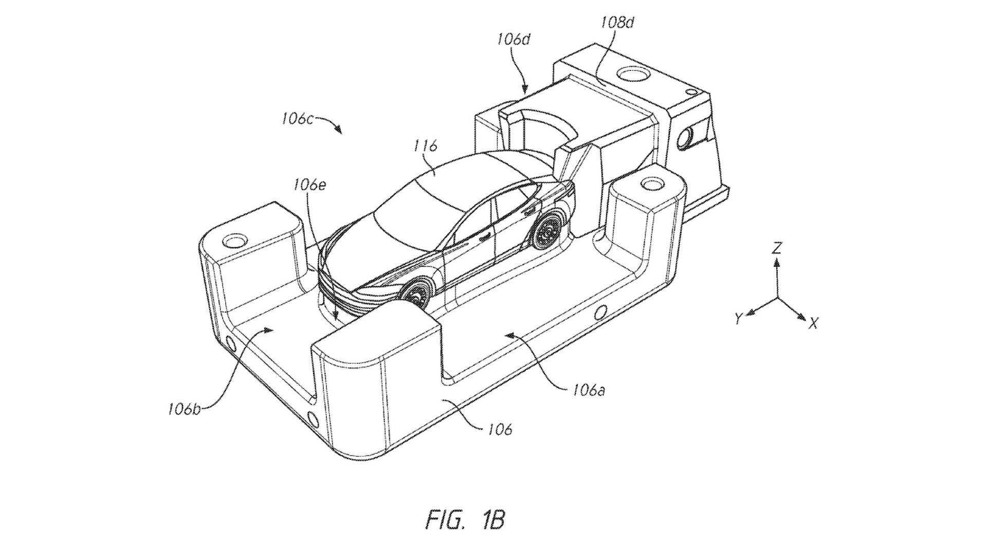 Inovácie vo výrobnom procese Tesla - patent jednoliatych rámov Modelu Y (Zdroj: Americký patentový úrad)