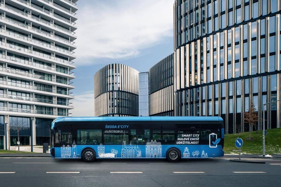 Elektrobus Škoda Electric Dopravného podniku mesta (Foto: FB/Zdeněk Hříb)