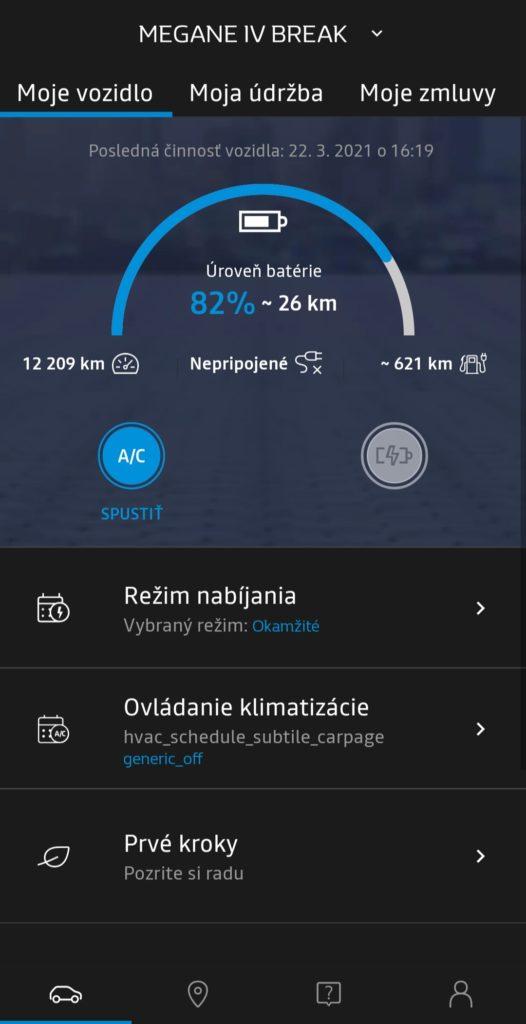 MyRenault vzdialená aplikácia