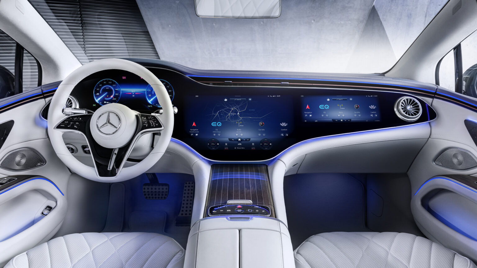 Mercedes EQS - interiér (Foto: Mercedes-Benz)