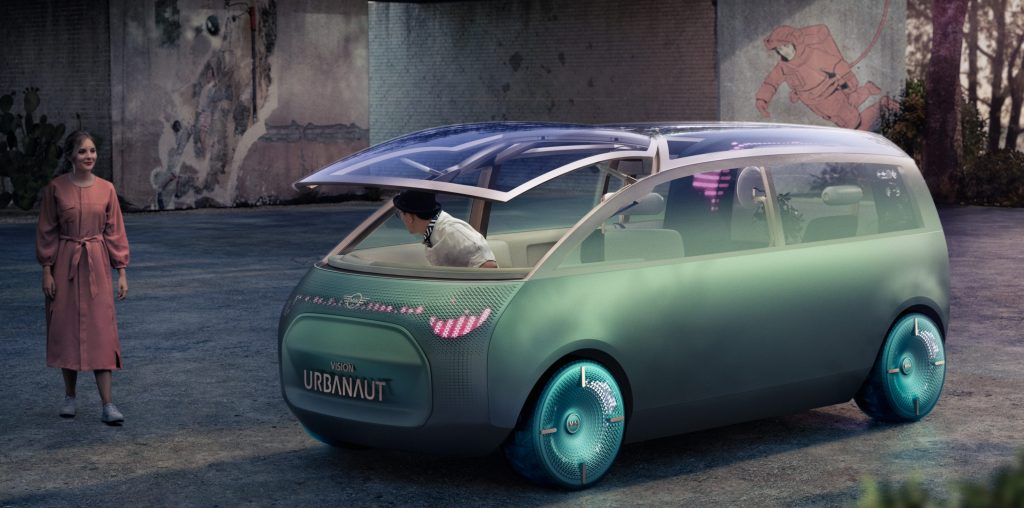 Koncept elektrickej autonómnej dodávky - MINI Vision Urbanaut (Foto: MINI)