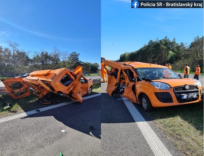 Tesla Model S nehoda na Slovensku