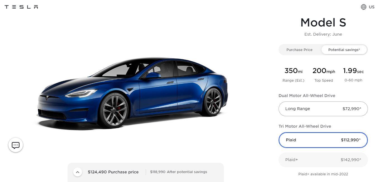 Tesla Model S Plaid (Foto. Tesla)