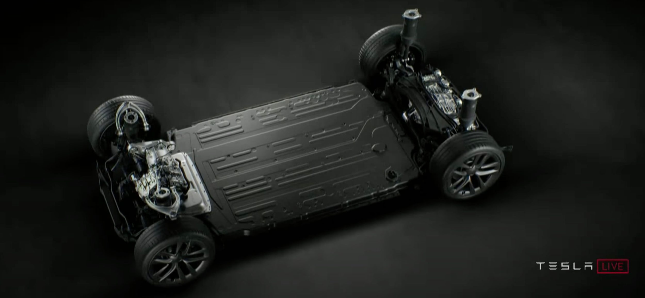 Batéria a pohonná sústava Tesla Model S Plaid I Foto: MotorTrend