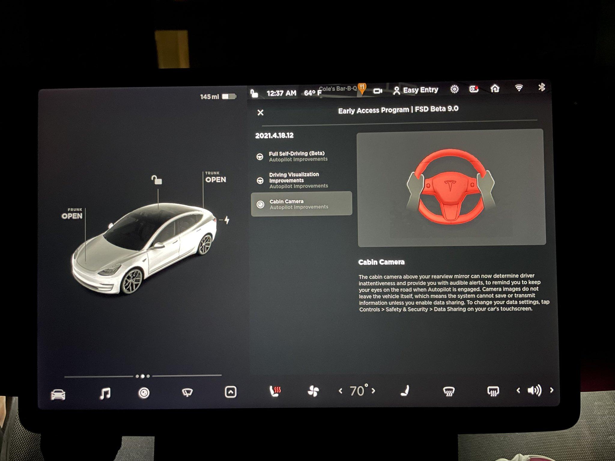 Systém autonómneho riadenia Tesly - FSD Beta V9 (Foto: Teslaraj)
