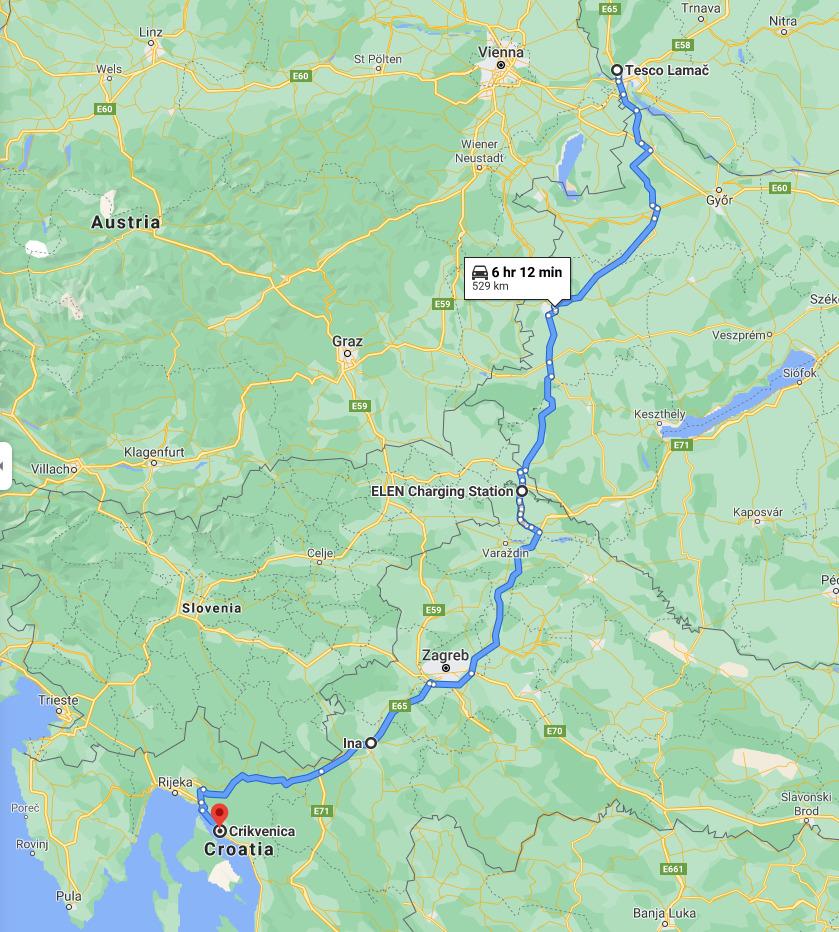 Chorvatsko mokka trasa