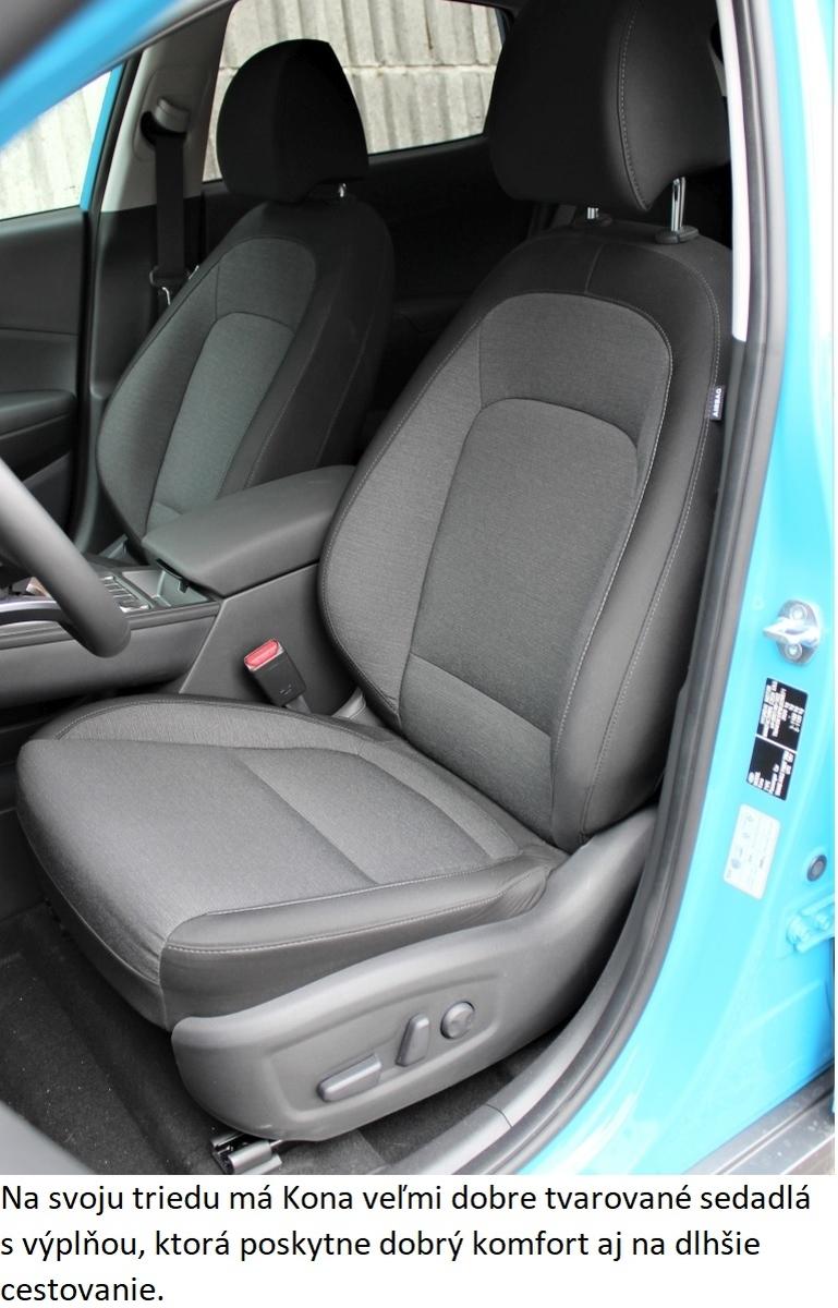 Hyundai Kona Electric predne sedadlo