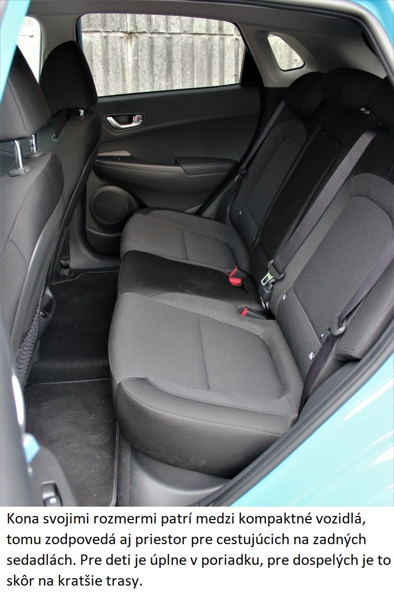 Hyundai Kona Electric zadne sedadlo