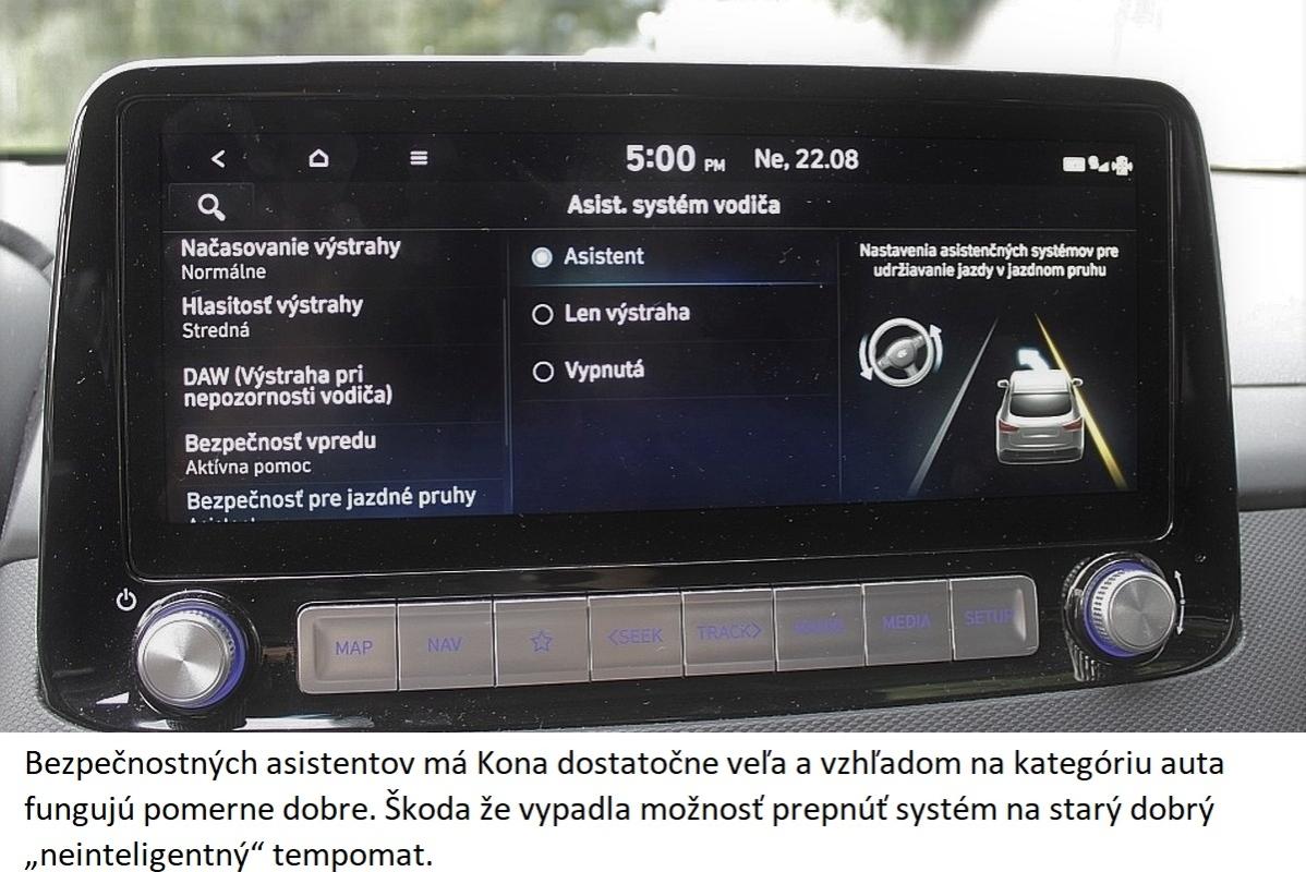 Hyundai Kona Electric udrziavanie pruhu