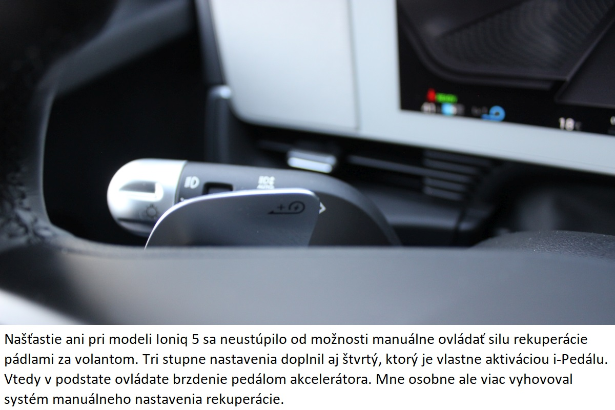 Hyundai Ioniq 5 rekuperacia