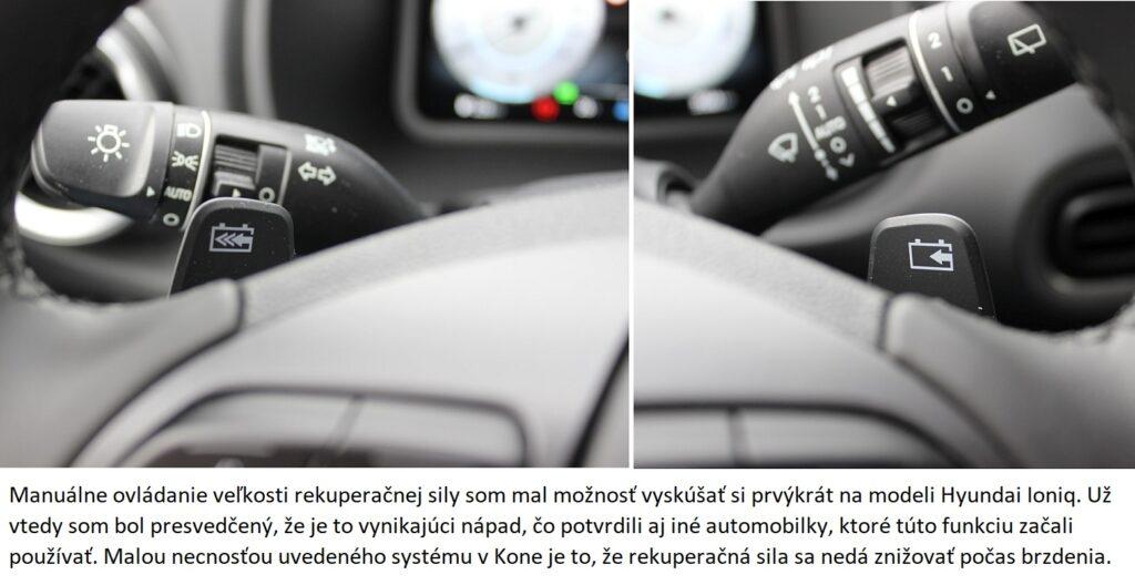 Hyundai Kona Electric rekuperacia